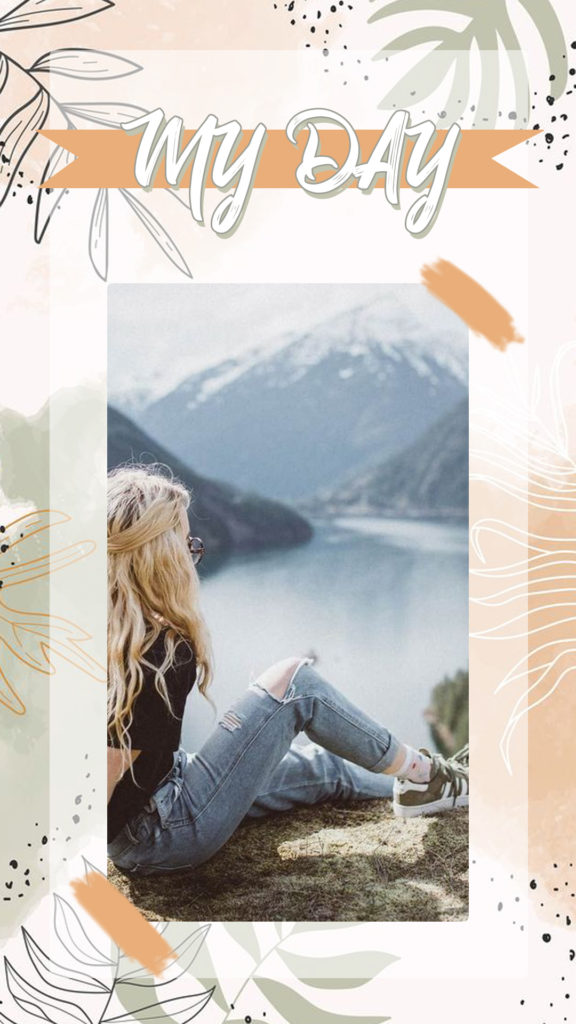 Уникальный шаблон сторис для Instagram