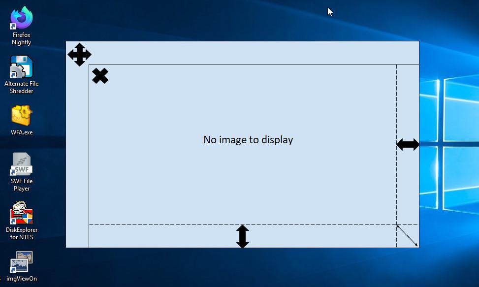 ImgViewOn — безрамочный просмотрщик изображений для Windows 10