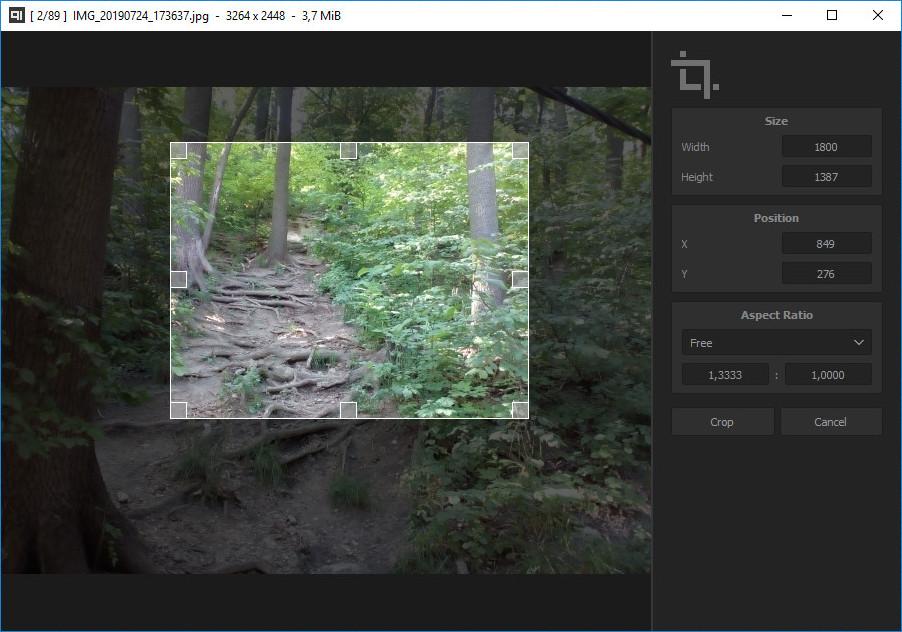 Qimgv легкий просмотрщик изображений