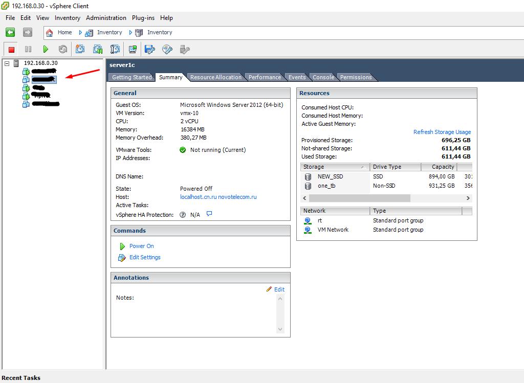 Esxi 5.5 как экспортировать виртуальную машину