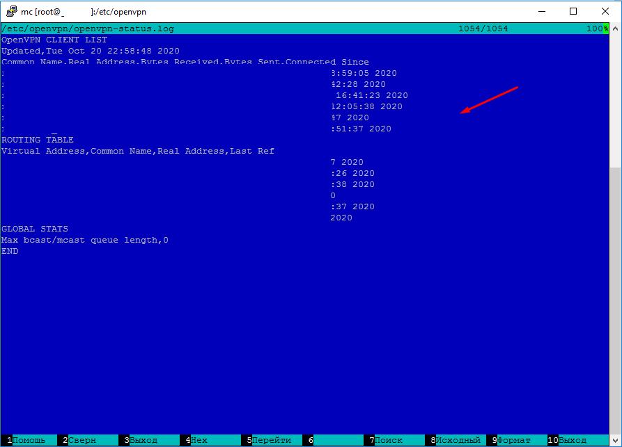 OpenVpn сервер как посмотреть кто подключен