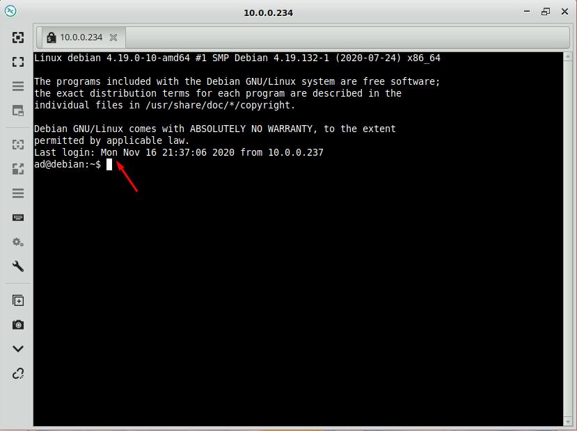 Как подключить к Linux по SSH из Simple Linux