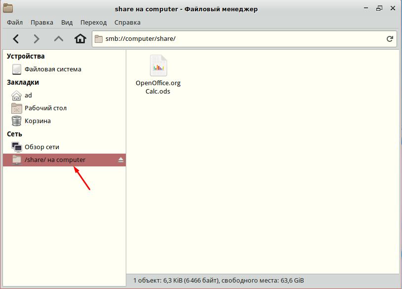 Simply Linux как подключить общею папку
