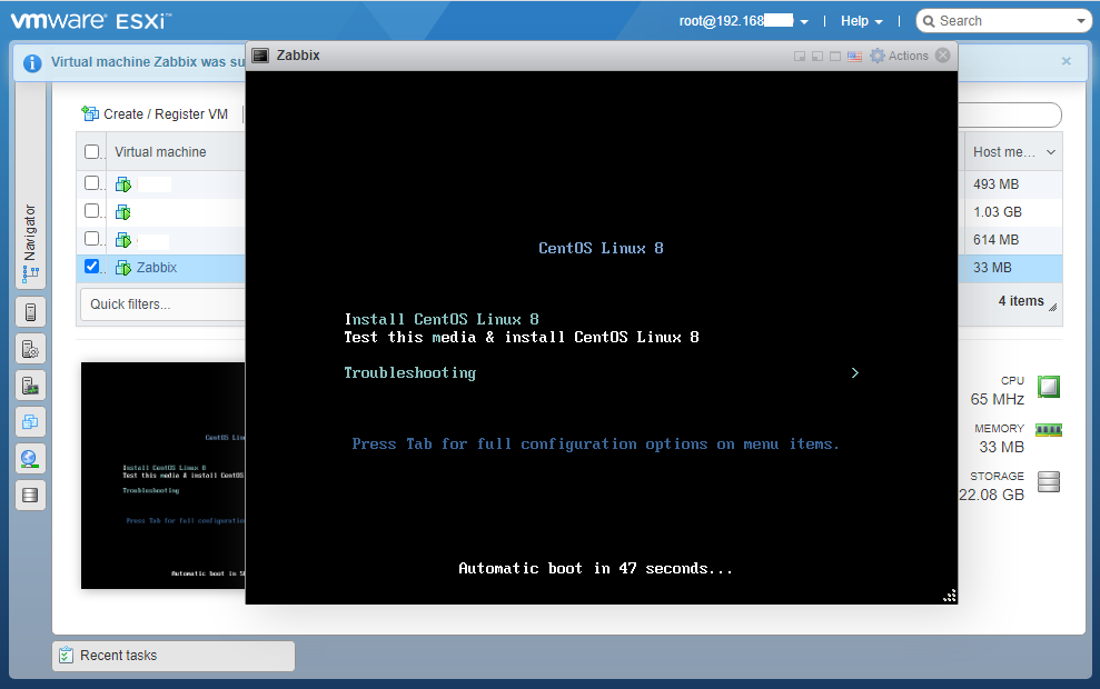 VMware Esxi 7.0 Установка ОС на созданную виртуальную машину