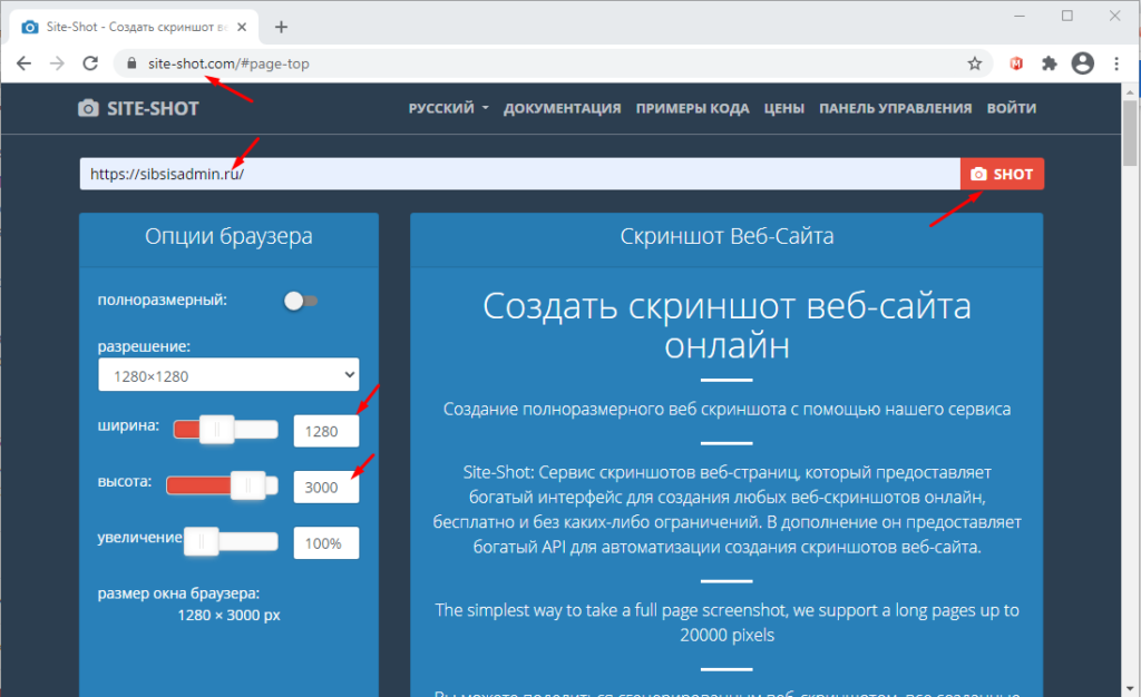 Как сделать скриншот всей страницы сайта