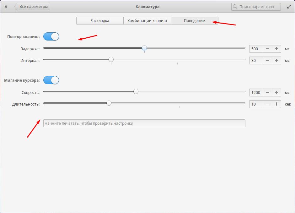 Elementary OS настройка раскладки