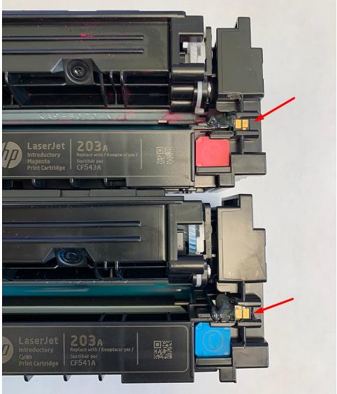 МФУ HP Color LaserJet Pro MFP M281fdn не видит установленный картридж