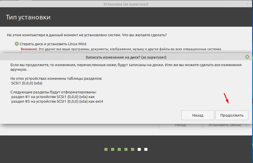 Linux Mint 20.1 разметка диска