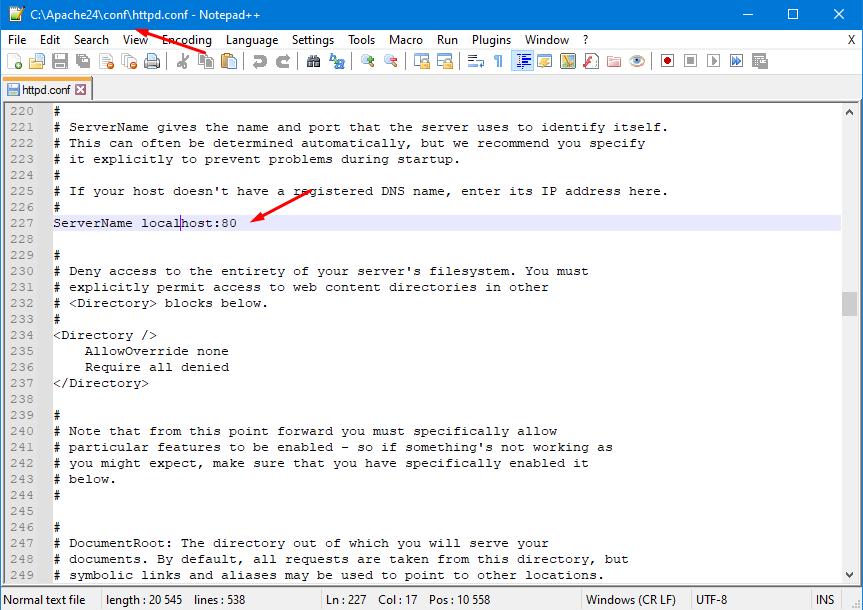 Публикация базы на локальном веб сервер